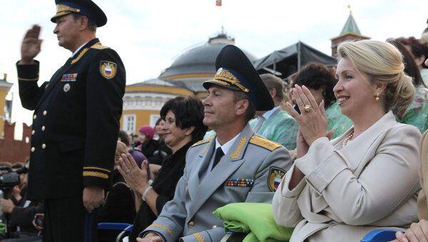 Посещение С.Медведевой Международного военно-музыкального фестиваля Спасская башня