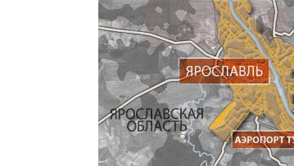 Самолет ЯК-42 упал в аэропорту Туношна в Ярославской области