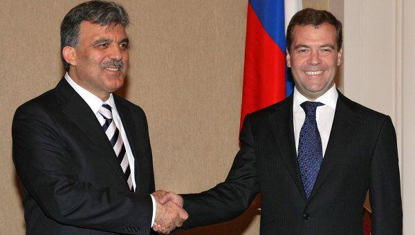 Президент РФ Дмитрий Медведев и президент Турции Абдулла Гюль. Архив