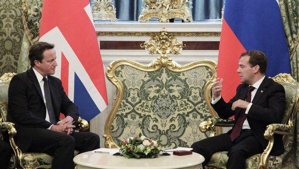 Президент РФ Д.Медведев принял премьер-министра Великобритании Д.Кэмерона в Кремле