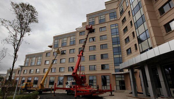 Компания Крокус Интернэшнл была генеральным подрядчиком строительства кампуса ДВФУ во Владивостоке. Архивное фото