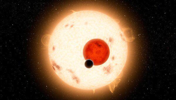 Планетная система с двумя солнцами Kepler-16. Архивное фото