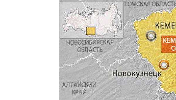 Кемеровская область. Карта