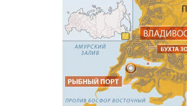 Катер и сухогруз столкнулись в порту Владивостока