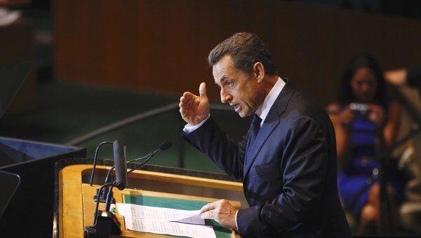Президент Франции выступает на 66-й сессии Генассамблеи ООН
