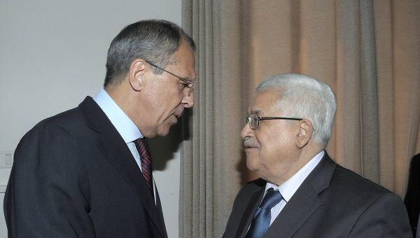 Встреча главы МИД РФ Сергея Лаврова и главы ПНА Махмуда Аббаса. Архив