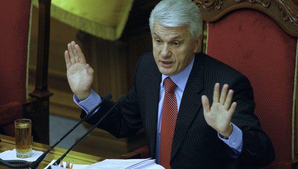 Председатель Верховной Рады Украины Владимир Литвин на заседании Верховной Рады Украины