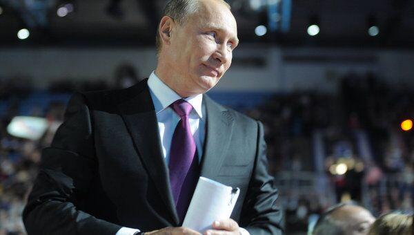 Премьер-министр РФ В.Путин на XII Съезде Единой России
