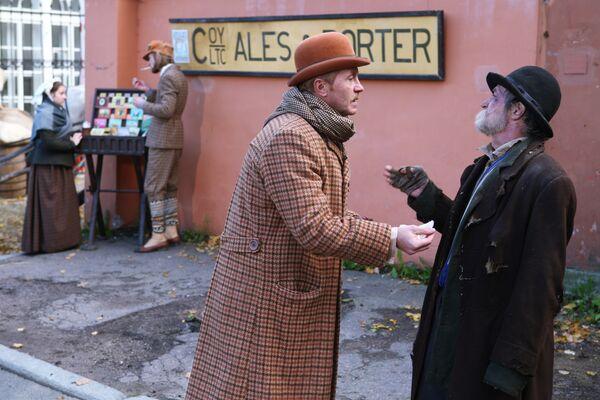 Съемки сериала Шерлок Холмс