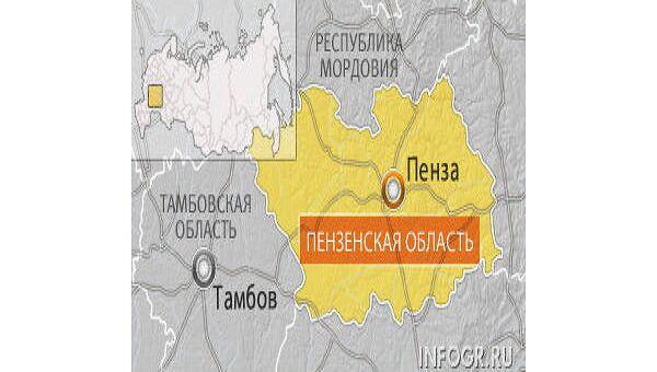 Локомотив в Пензенской области врезался в автомобиль