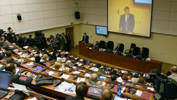 На заседании  Общественной палаты РФ. Архивное фото