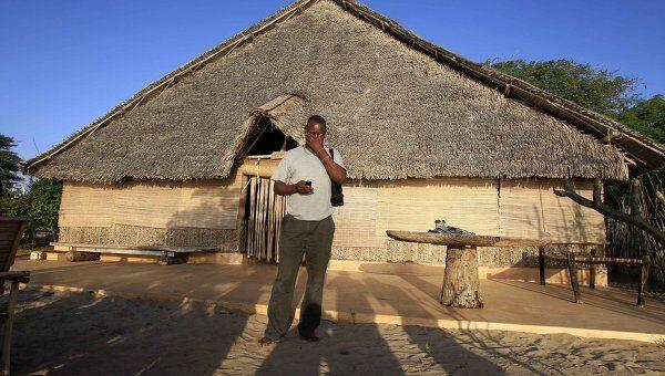 Дом на острове Манда в Кении, откуда была похищена 75-летняя француженка
