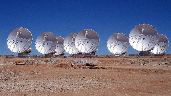 Антенны радиотелескопа ALMA