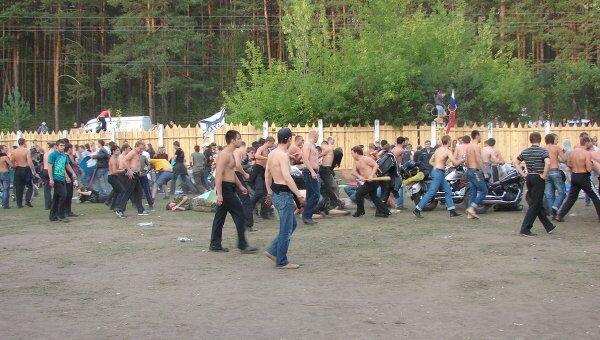 Массовая драка на рок-фестивале