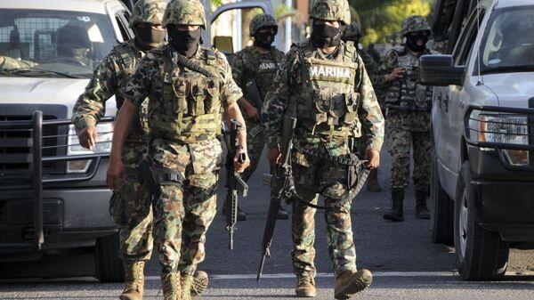 Мексиканские военные на улицах Веракруса