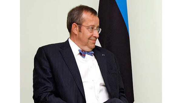 Президент Эстонии Томас Хендрик Ильвес. Архивное фото