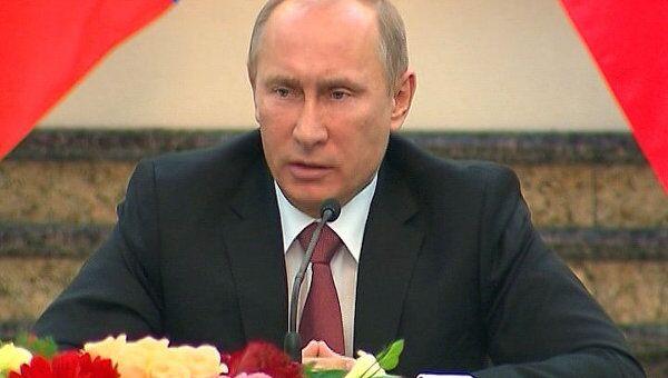 Путин рассказал о рекордах российско-китайского товарооборота