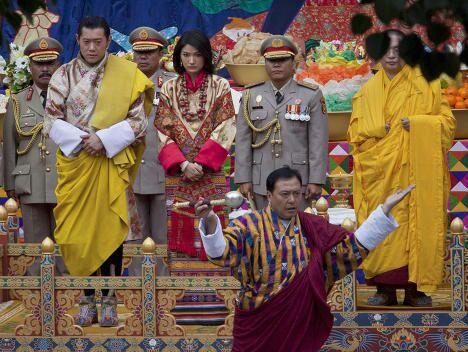 Король Бутана Джигме Кхесар Намгьял Вангчук и Джецун Пема