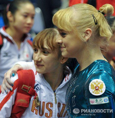 Виктория Комова и Татьяна Набиева (слева направо)