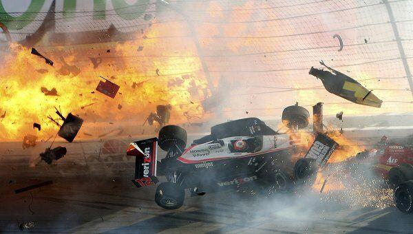 Пилот Дэн Уилдон погиб во время гонки финального этапа американской серии Индикар в Лас-Вегасе