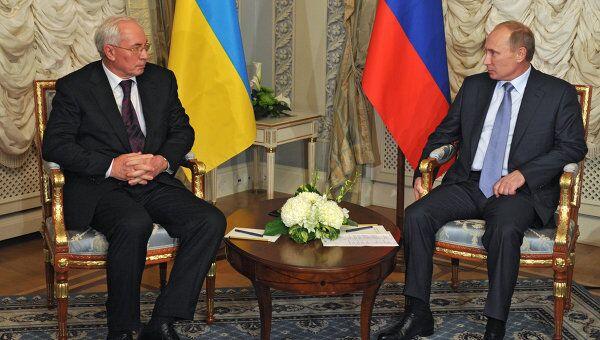 Премьер-министр РФ В.Путин провел встречу с премьер-министром Украины Н. Азаровым