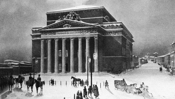 Литогравюра Большой театр