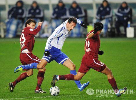 Игровой момент матча Динамо - Рубин