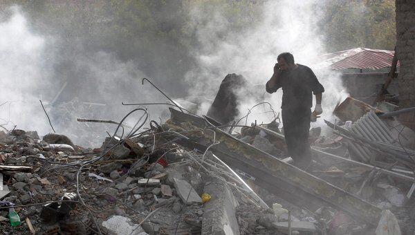 Последствия землетрясения в турецкой провинции Ван