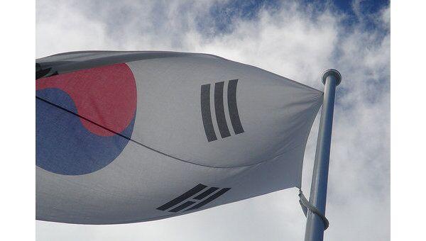 Флаг Южной Кореи, архивное фото