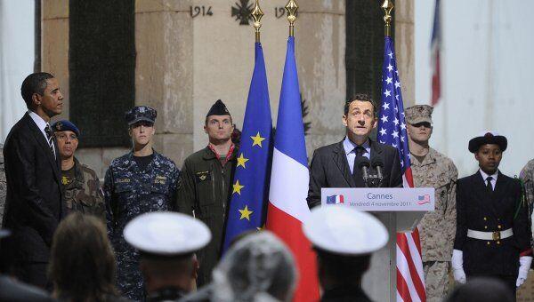 Саркози и Обама в Канне