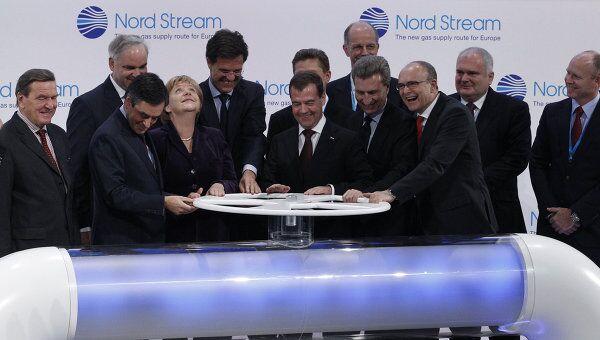Лидеры РФ, Германии, Франции и Голландии дали старт Северному потоку