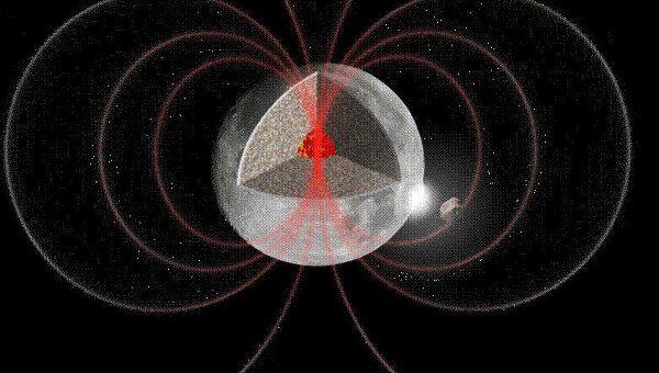 """Астероид """"раскручивает"""" Луну, в результате чего в ее ядре возникает магнитное поле"""