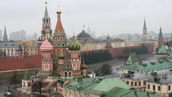 Кремль и собор Василия Блаженного. Архив