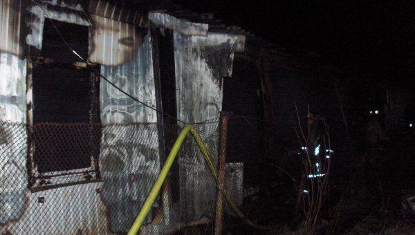 Крупный пожар в городе Микунь в Коми