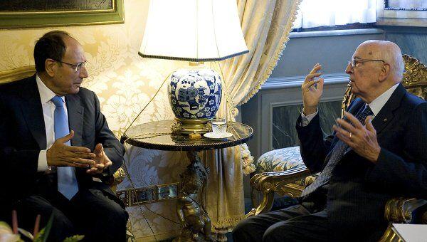 Президент Италии Джорджо Наполитано проводит консультации по формированию нового правительства