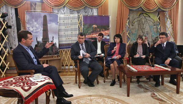 Президент РФ Д.Медведев провел встречу с представителями СМИ Приволжского ФО