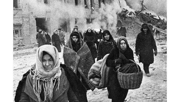 Жители блокадного Ленинграда. Архив