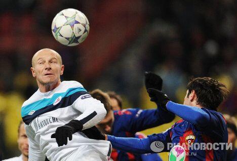 Игровой момент матча ЦСКА - Лилль