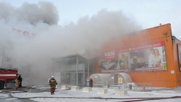 Пожар в торговом центре МЕГА-Пенза