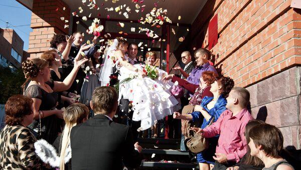 Свадьба в Томске, архивное фото