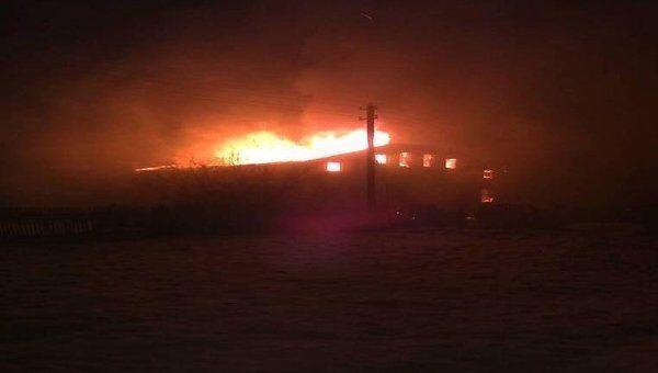 Пожар в жилом доме в Сергиево-Посадском районе Подмосковья