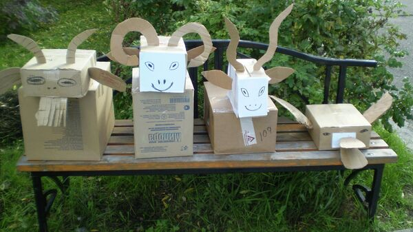 Картонные чучела для животных Северского зоопарка