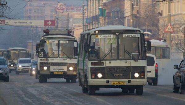 Улицы в Томске - транспорт, маршрутки
