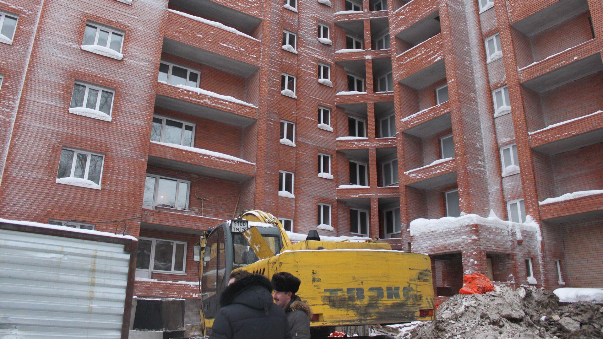 Строительство жилого дома - РИА Новости, 1920, 16.12.2020