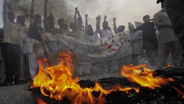 Протесты против сил НАТО в Пакистане