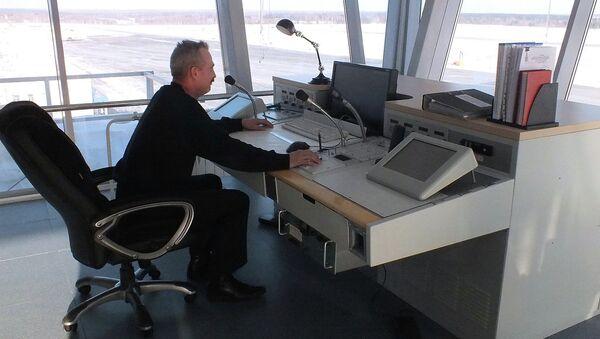 Новые помещения для авиадиспетчеров в томской аэропорту, архивное фото