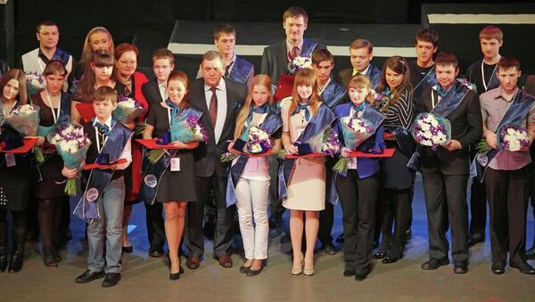 Церемония объявления лауреатов X конкурса на премию Законодательной думы Томской области