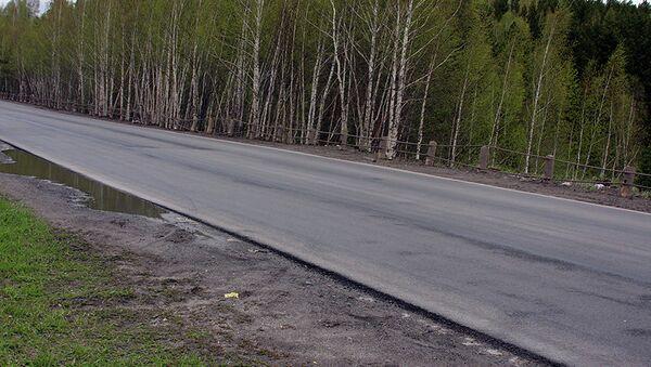 Отремонтированный участок Кузовлевского тракта