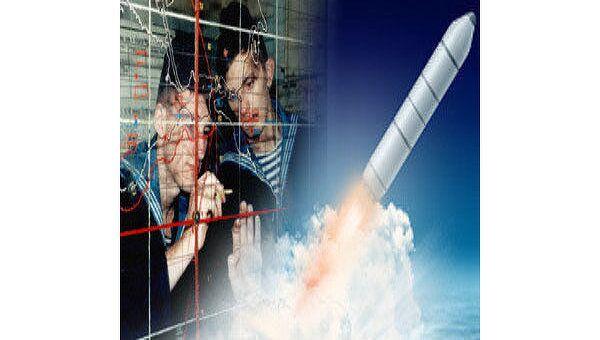 Запуск ракеты Булава