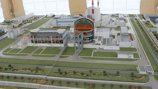Макет Балтийской атомной электростанции. Архивное фото